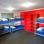 10 bed dorm with storage units