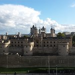 View from room of Tower Bridge and Tower of London.
