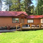 Bison Cabin has a private deck with space to BBQ or just sit and enjoy the great outdoors.
