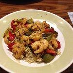 Shrimp stir fry (Cajun?)