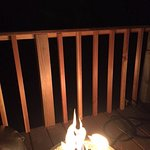 Wonderful fire ring on patio!