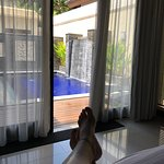 perfect so relaxing and everything you see in the photos is true the butlers are fantastic and d
