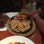 Burger and fries. Was very good.