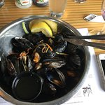 Mussels that come with a whole lobster