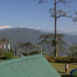 The Kanchenjungha Range as seen from the window of a North Facing Room