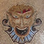 Detail from the mosaic floor at Celio Hotel
