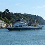 Ferry returning from estuary