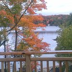view from balcony - beach and Lake Joseph