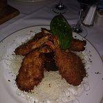 overcooked butterflied shrimp