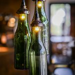 Re-purposed wine bottles