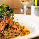 Quinoa Stack Lunch with Central Otago Wine