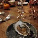 Oyster on the half shell with hints of ginger, citron,