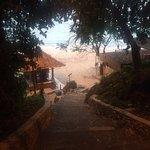 Entrance to Padang Padang beach, early morning surf sesh