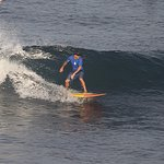 Learning how to surf lefts! Bali is Lefts all day!!