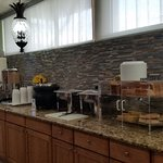 Breakfast array: nice coffee makers at far end.