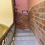 Escalera hacia el 3er piso donde esta la entrada a la casa