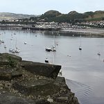 Looking at the hotel from Conwy Castle