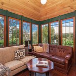 Sunroom and library/board games room