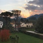 view from our window to Tuscan countryside in fall