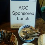 Our Sponsor for Lunch, ACC, thankyou