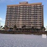 Beachfront view of hotel