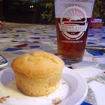 Corn muffin and Finger Lakes IPA