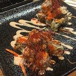 The spicy sashimi tempura roll!