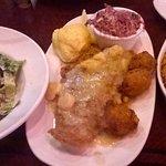 Catfish with sweet potato mash