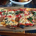 Flatbread with the grilled anchovie option.