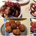 Roasted cauliflower, Pizza, Stuffed Shells, Arancini