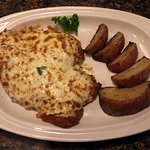 Chicken Parmigiana with Roast Potatoes