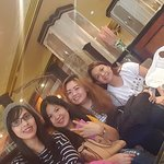 picture taken with friends at lobby