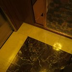 Marble floors inside the elevator