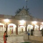 A view of Kali mata temple, Patiala with wife in the foreground