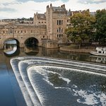 The historic Pulteney Bridge at Bath