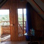 room from bed over veranda