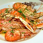 Roasted Langoustines with lemon & herb butter