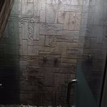 Shower in the spa room
