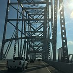 Going over Natchez bridge