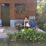 Chaque bungalow a la terrasse