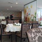 Inside seating in restaurant