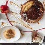 dessert menu du terroir poire, chocolat