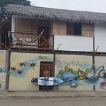 the outside mural across from Adicto Surf