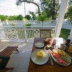 Breakfast from the apartment veranda