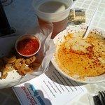 shrimp soup calamari and beer