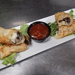 Brie & Mushroom Spring Roll