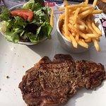 Traditional steak frites