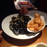 Moules mariniere and frites