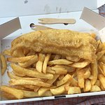 Gluten free fish and chips. Small fish & standard chips. £5.70