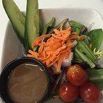 Turkey club and side salad.